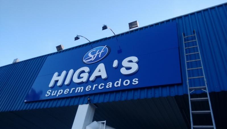 Empresa de Letra Caixa de Acm em Ribeirão Pires - Letra Caixa Galvanizada