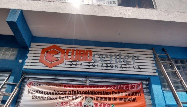 Letra Caixa de Acm na Ponte Rasa - Letra Caixa Galvanizada