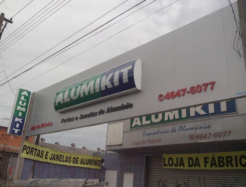 Letra Caixa Galvanizada Preço Osasco - Letra Caixa em São Paulo