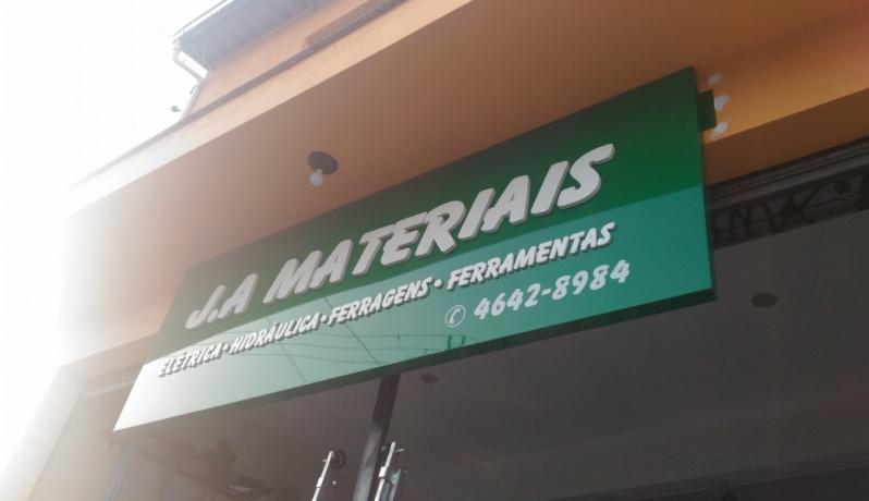 Letra Caixa para Fachada de Comércio Engenheiro Goulart - Letra Caixa Galvanizada
