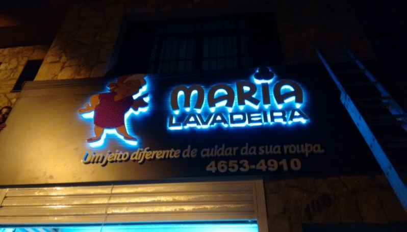Letra Caixa Retroiluminada Preço em Jundiaí - Letra Caixa Galvanizada