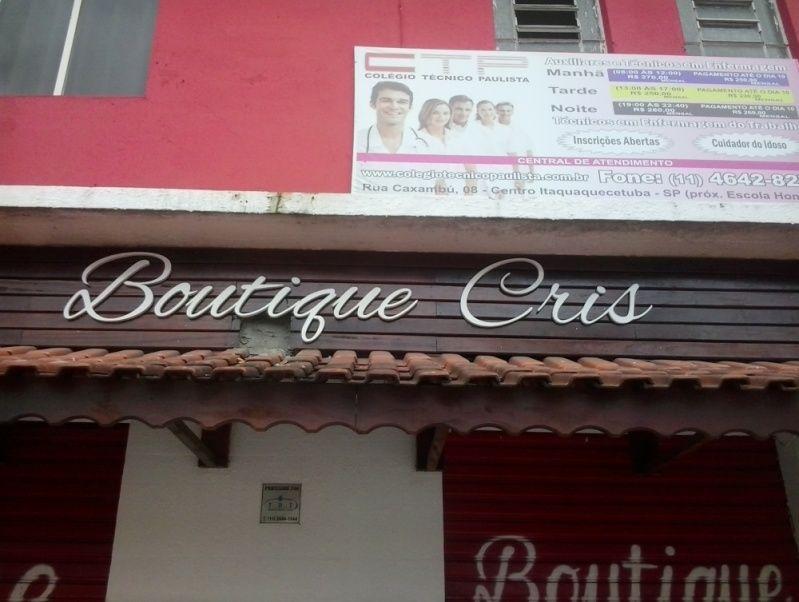 Letra Galvanizada Preço Guarulhos - Letreiro para Loja