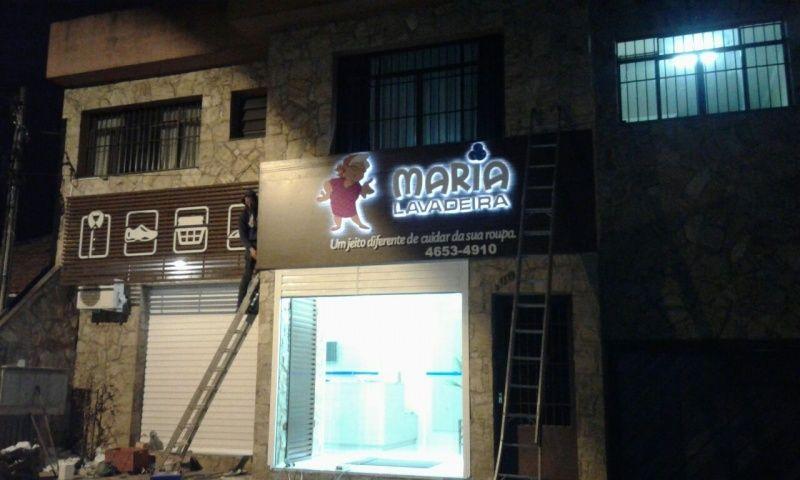 Letras Caixa com Iluminação Interna em Santa Isabel - Letra Caixa Galvanizada