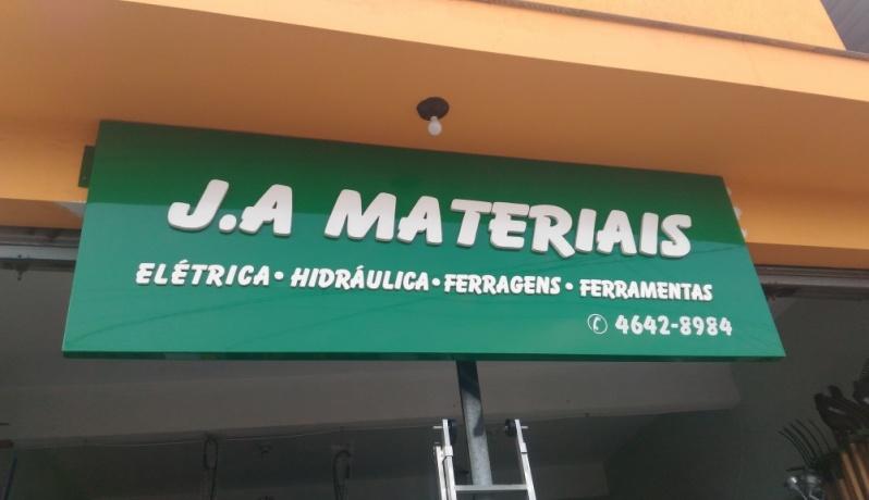 Letras Caixa de PVC Aricanduva - Letra Caixa de PVC