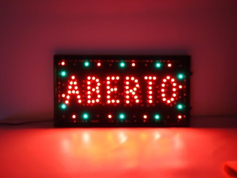Letreiro Luminoso Aberto Preço Francisco Morato - Letreiro Luminoso Led