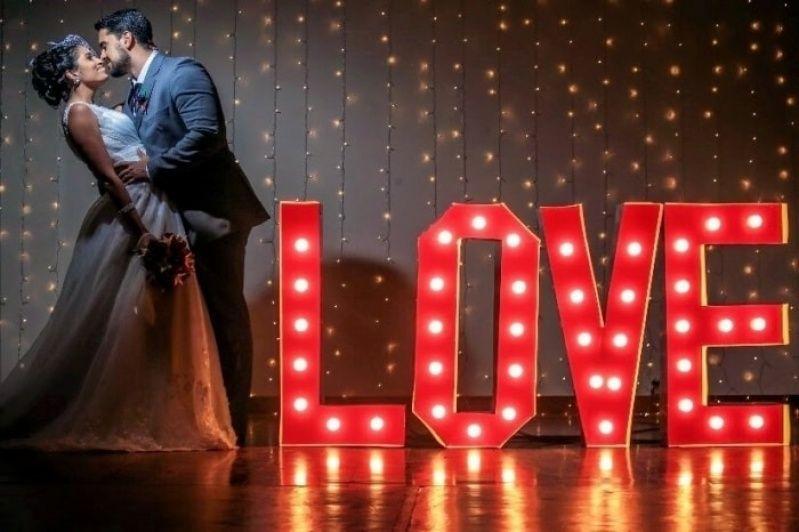 Letreiro Luminoso para Casamento em Sp Francisco Morato - Letreiro Luminoso Led