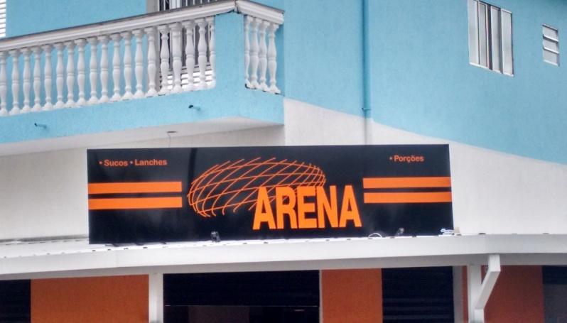 Quanto Custa Letra Caixa para Fachada de Comércio em Santa Isabel - Letra Caixa Galvanizada
