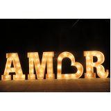 letreiro luminoso casamento preço Mooca