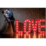 letreiro luminoso para casamento em sp Sapopemba