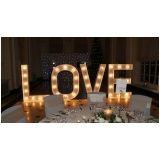 letreiros luminosos para casamento Sapopemba